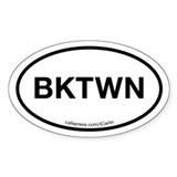 Bucktown Acronym Oval Decal