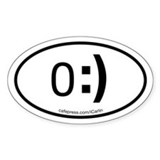 Angel Emote Oval Decal
