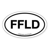 Fairfield Oval Decal