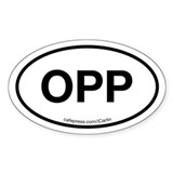 OPP Oval Bumper Stickers