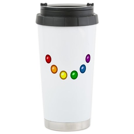 Rainbow Baubles Ceramic Travel Mug