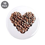 "Coffee Lover 3.5"" Button (10 pack)"