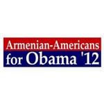Armenian Americans for Obama '12 bumper sticker