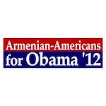 Armenian Americans for Obama '12 bumper sticker