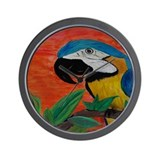 Parrot Heat Wall Clock