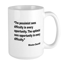 Churchill Pessimist Optimist Quote Mug