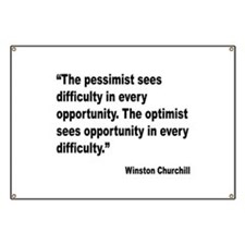 Churchill Pessimist Optimist Quote Banner