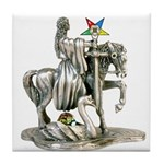 OES Woman with Sword Tile Coaster