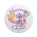 Huainan China Map Ornament (Round)