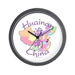 Huainan China Map Wall Clock