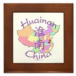 Huainan China Map Framed Tile