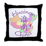 Huainan China Map Throw Pillow