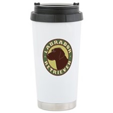 Chocolate Lab Crest - Ceramic Travel Mug