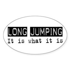 Long Jumping Is Oval Decal