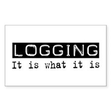 Logging Is Rectangle Sticker 50 pk)