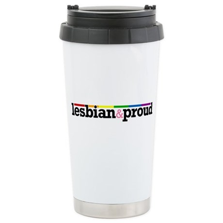 Lesbian&proud Ceramic Travel Mug