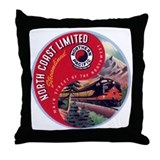 North Coast Railroad Throw Pillow