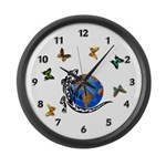 Gecko Friends Large Wall Clock