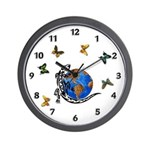 Gecko Planet Wall Clock