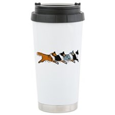 Group O' Shelties Ceramic Travel Mug