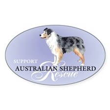 Australian Shepherd Rescue Oval Decal