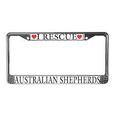 Australian Shepherd Rescue License Plate Frame