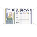 It's a Boy Newborn Baby Banner