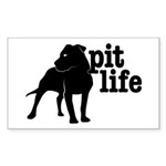 Pit Life Rectangle Sticker 50 pk