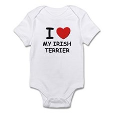I love MY IRISH TERRIER Infant Bodysuit