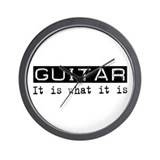 Guitar Is Wall Clock