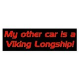 My other car is a Viking Long Bumper Car Sticker