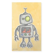 little bot Rectangle Sticker 10 pk)