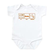 Eat Sleep Badminton Infant Bodysuit
