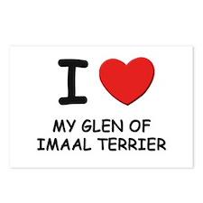 I love MY GLEN OF IMAAL TERRIER Postcards (Package