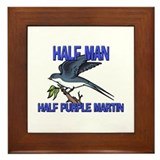 Half Man Half Purple Martin Framed Tile