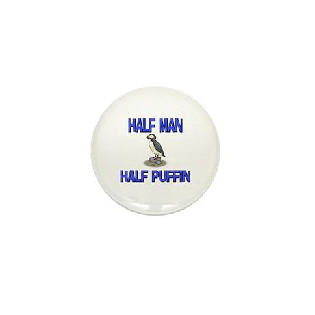 Half Man Half Puffin Mini Button