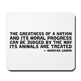 Quote - Greatness - Gandhi Mousepad