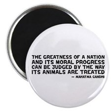 "Quote - Greatness - Gandhi 2.25"" Magnet (10 p"