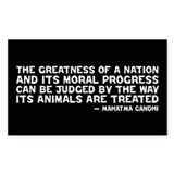 Quote - Greatness - Gandhi Rectangle Decal