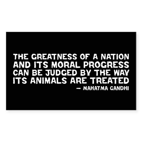 Quote - Greatness - Gandhi Rectangle Sticker