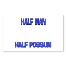 Half Man Half Possum Rectangle Decal
