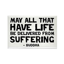 Quote - Buddha - Delivered fr Rectangle Magnet (10