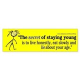 Lie about your age (Bumper Sticker)