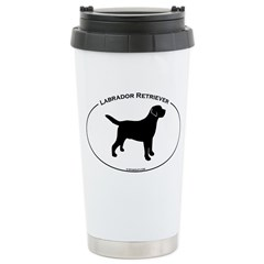 Labrador Oval Text Ceramic Travel Mug