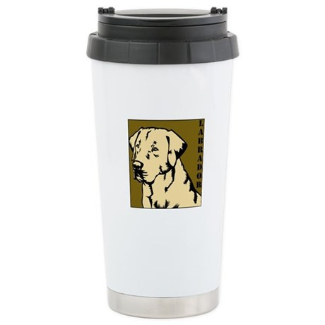 Yellow Military Lab Ceramic Travel Mug