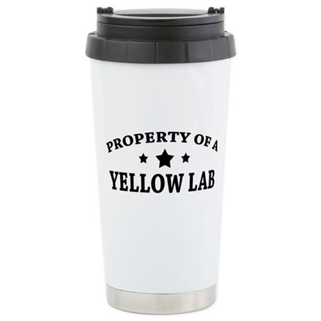 Property of a Yellow Lab Ceramic Travel Mug