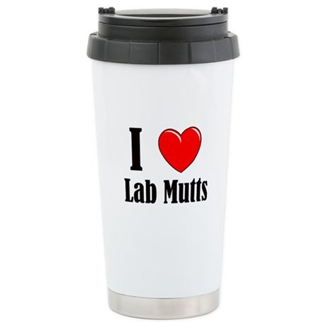 I Love Mixed Labradors Ceramic Travel Mug