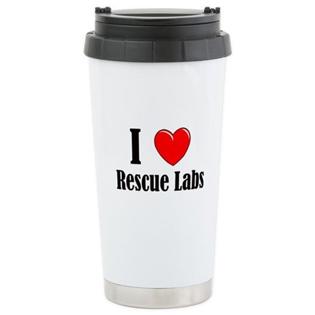 I Love Rescue Labradors Ceramic Travel Mug