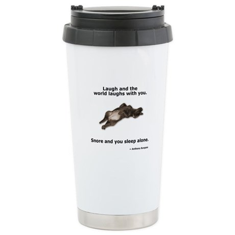 Snoring Chocolate Labrador Ceramic Travel Mug