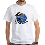 Gecko Planet White T-Shirt